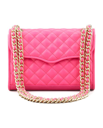 Quilted Affair Mini Shoulder Bag, Neon Pink