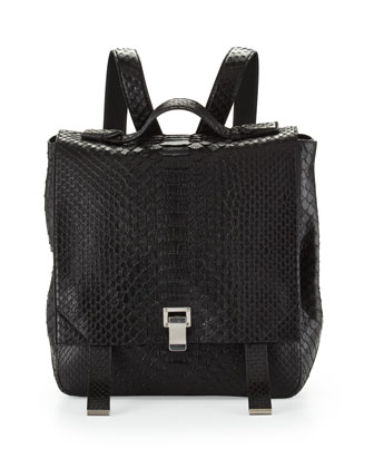 PS Large Python Backpack, Black