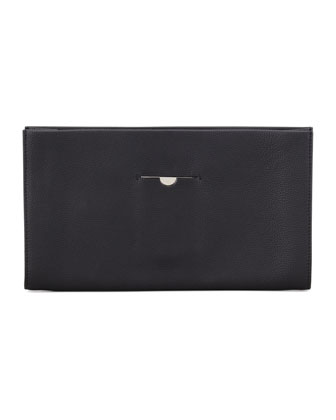 Small Wrap Clutch Bag, Black