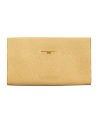 Small Wrap Clutch Bag, Canary