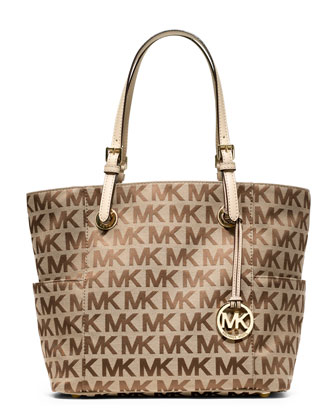 Jet Set Signature Logo Tote