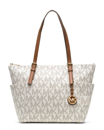 Jet Set Logo Top-Zip Tote