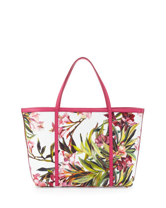 Escape Floral Canvas Shopper Tote Bag