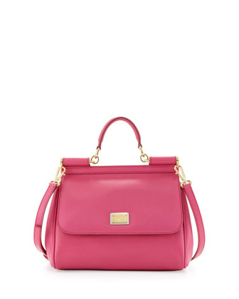 Miss Sicily Small Satchel Bag, Pink