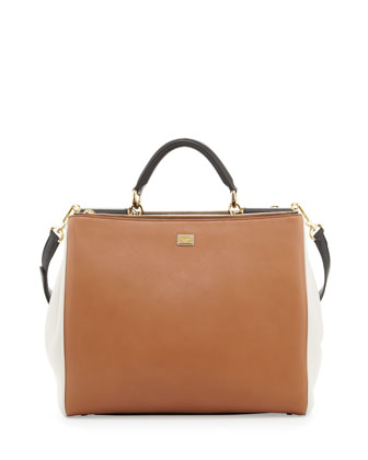 Miss Sicily Tricolor Medium Satchel Bag