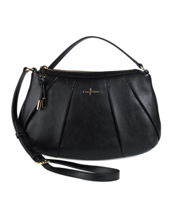 Adele Pleated Crossbody Bag, Black