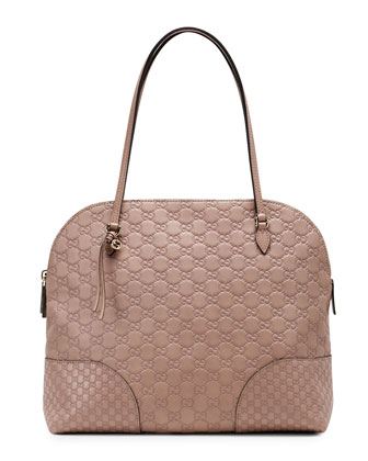 Bree Guccissima Leather Shoulder Bag, Tan/Nude