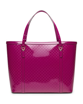 Gucci Nice Microguccissima Leather Tote Bag, Fuchsia