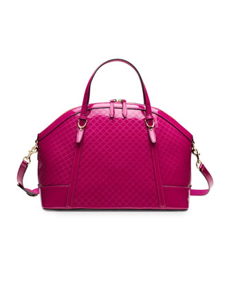 Gucci Nice Microguccissima Leather Top-Handle Bag, Fuchsia