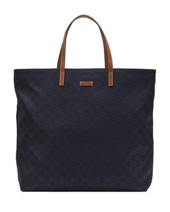 Sunny Guccissima Small Tote Bag, Dark Blue