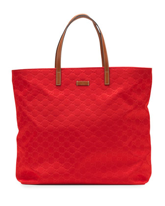 Sunny Guccissima Small Tote Bag, Red