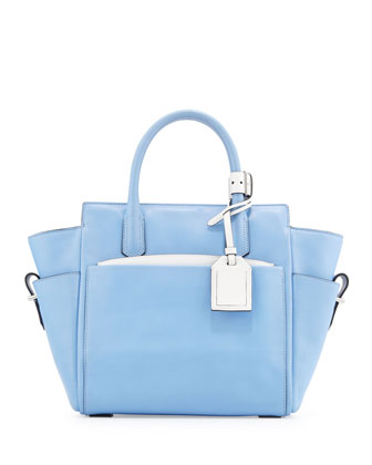 Atlantique Mini Tote Bag, Blue
