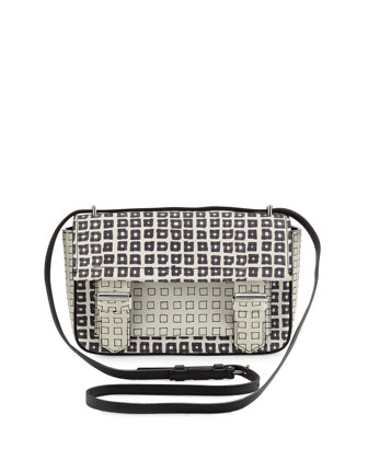 Standard Academy Printed Crossbody Bag, Black/White
