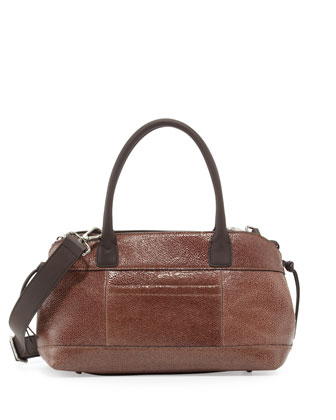 Mini Signature East-West Satchel Bag, Brown