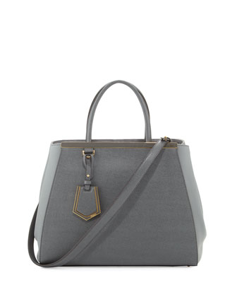 2Jours Vitello Elite Medium Tote Bag, Gray