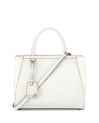 2Jours Mini Shopping Tote Bag, White