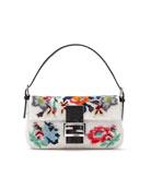 Baguette Floral Needlepoint Bag