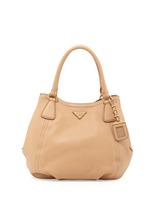 Daino Medium Shoulder Tote Bag, Tan (Noisette)