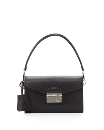 Saffiano Mini Sound Bag, Black (Nero)