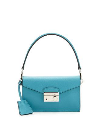 Saffiano Mini Sound Bag, Turquoise (Turchese)