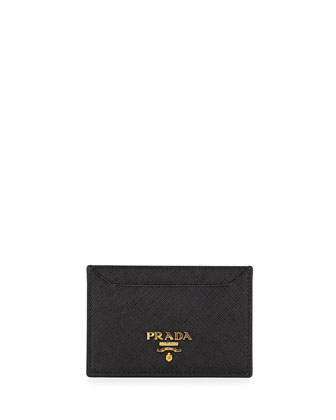 Saffiano Card Case, Black (Nero)