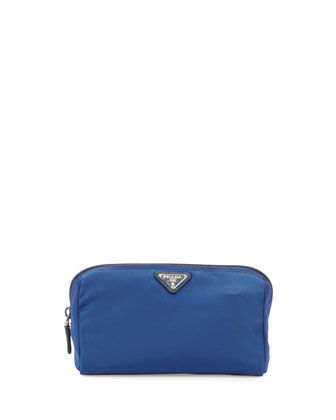 Vela Trapezoid Cosmetic Case, Blue