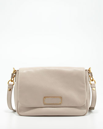 Too Hot to Handle Leather Crossbody Bag, Cream