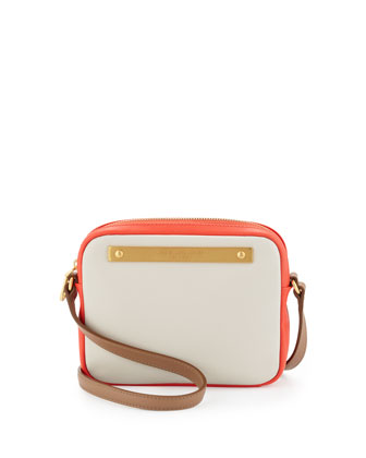Goodbye Columbus Mireu Crossbody Bag, Beige/Orange