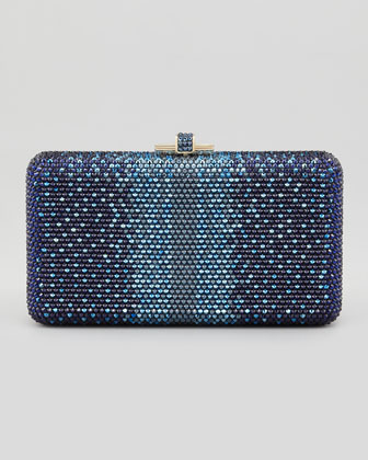 Airstream Large Ombre Clutch Bag, Champagne/Dark Indigo