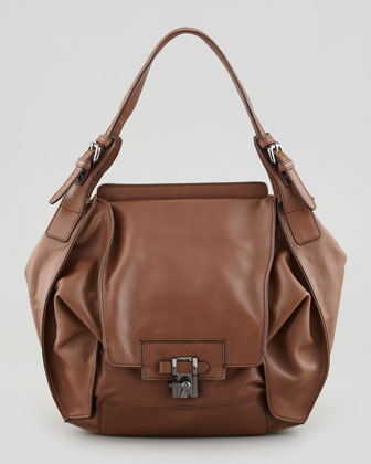 Valerie Flap-Front Shoulder Bag, Luggage