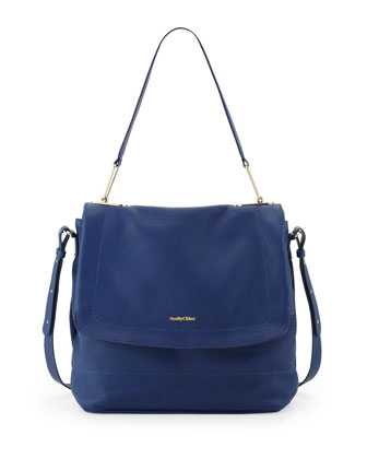 Berty 3 Leather Hobo Bag, Blue
