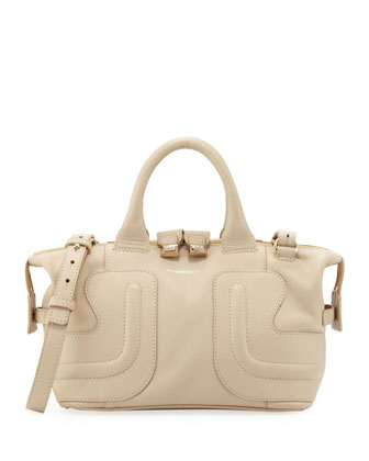Kay Leather Satchel Bag, Cream
