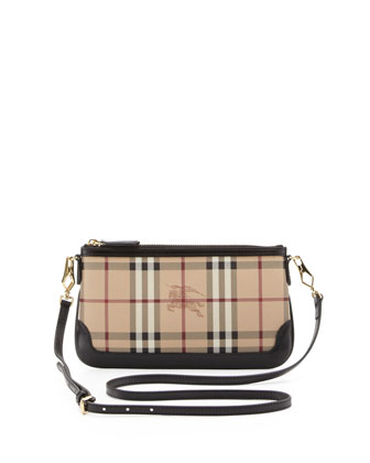 Check Crossbody Bag, Black