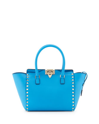 Rockstud Small Shopper Tote Bag, Blue