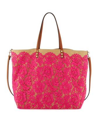 Glam Lace Tote Bag