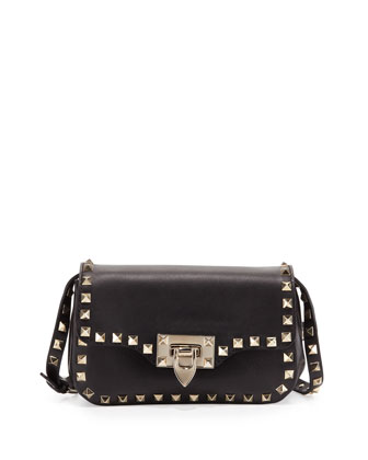 Rockstud Mini Crossbody Bag, Black