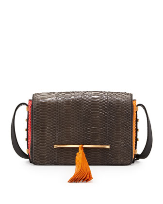 Bo Snakeskin Mini Crossbody Bag, Multicolor