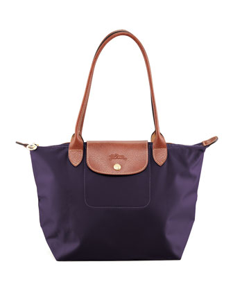 Le Pliage Medium Shoulder Tote Bag, Bilberry