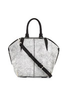 Small Emile Skeletal Tote Bag, White