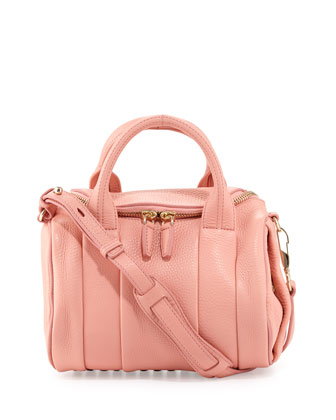 Rockie Small Dumbo Slick Crossbody Satchel Bag, Nectar
