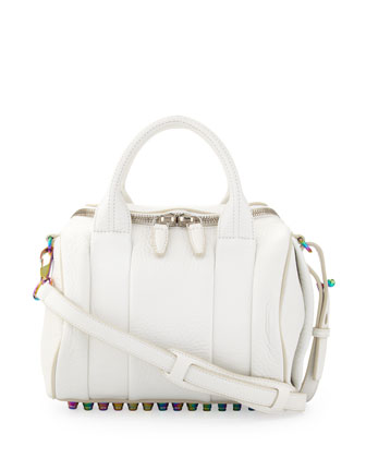 Rockie Small Crossbody Satchel Bag, White