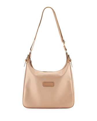 Derby Metallic Crossbody Bag, Platinum