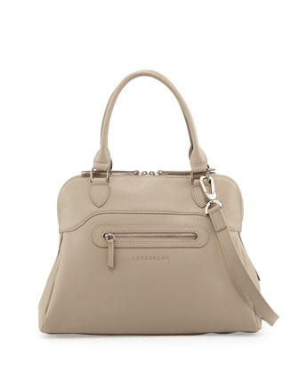 Veau Folonne Satchel Bag, Gray