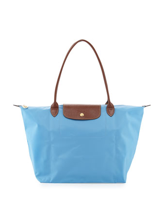 Le Pliage Large Shoulder Tote Bag, Azure