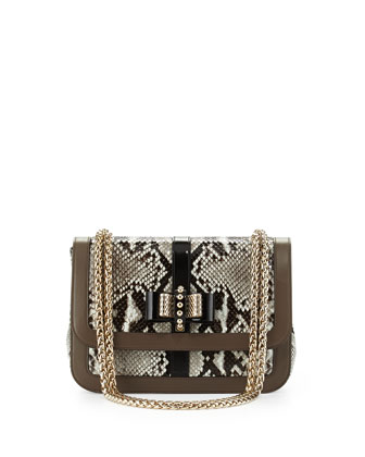 Sweet Charity Python Shoulder Bag