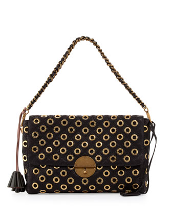 Gotham Quilted Eyelet Shoulder-Bag