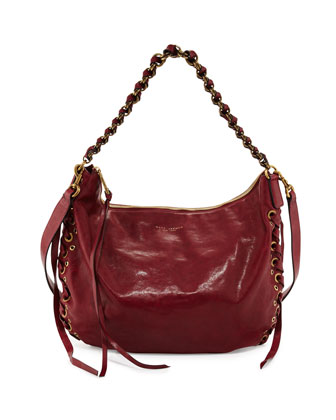 Laces Nomad Hobo Bag, Wine