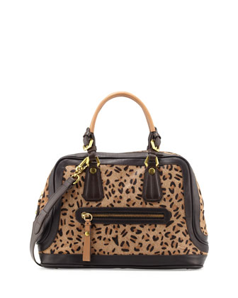 Kendal Leopard Satchel Bag