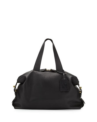 RDK Leather Satchel Bag, Black