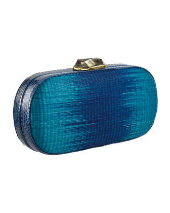 Mary Alice Ombre Box Clutch Bag, Navy/Cobalt
